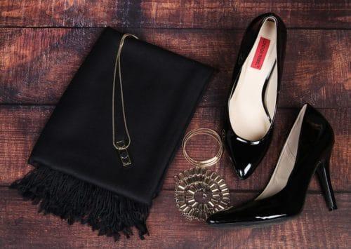 black pashmina scarf