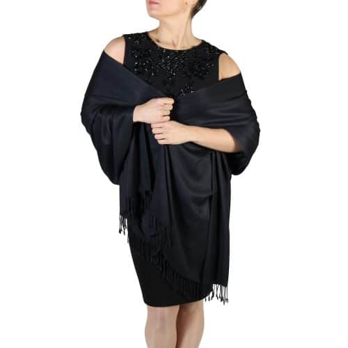 black pashmina wrap shawl (2)