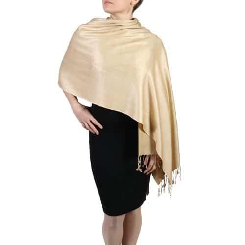 gold pashmina wrap shawl stole (2)