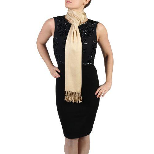 gold pashmina wrap shawl stole (5)