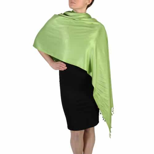 lime green pashmina wrap shawl stole (1)