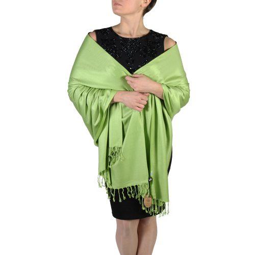lime green pashmina wrap shawl stole (2)