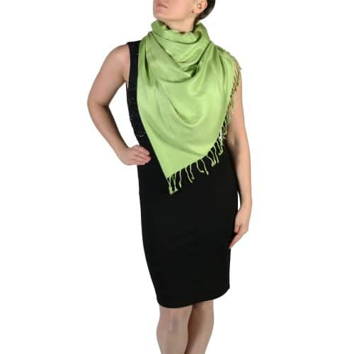 lime green pashmina wrap shawl stole (3)