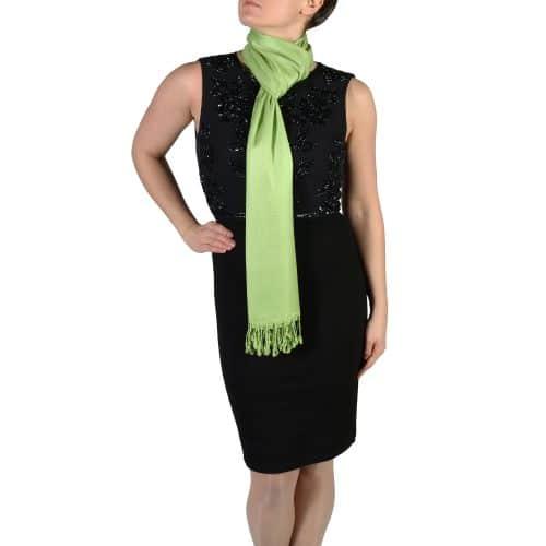 lime green pashmina wrap shawl stole (4)