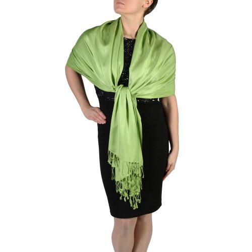 lime green pashmina wrap shawl stole (5)