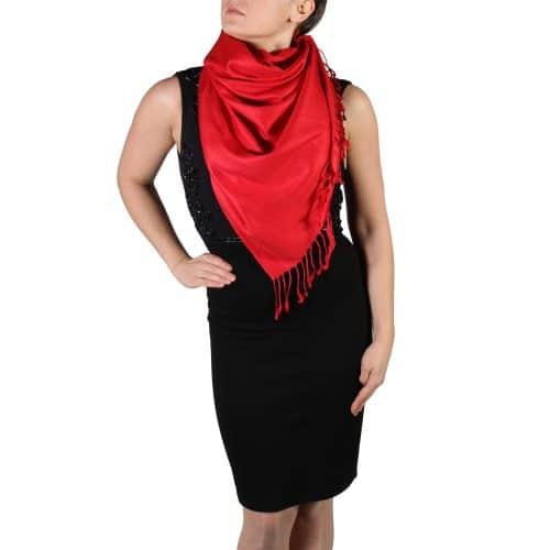 red pashmina scarf wrap shawl (1)