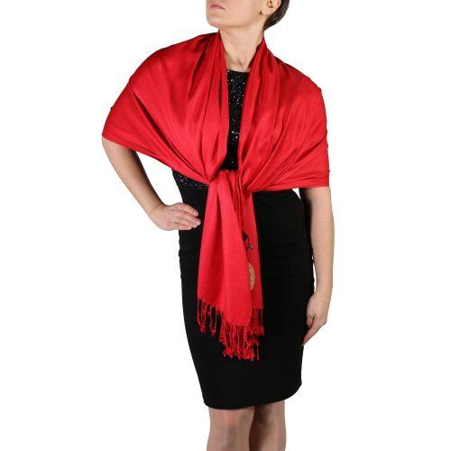 red pashmina scarf wrap shawl (3)