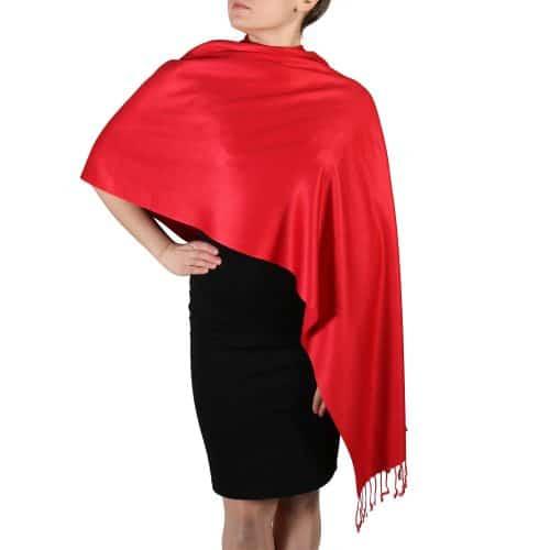 red pashmina scarf wrap shawl (4)