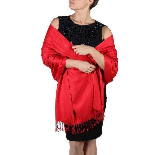 red pashmina scarf wrap shawl (5)