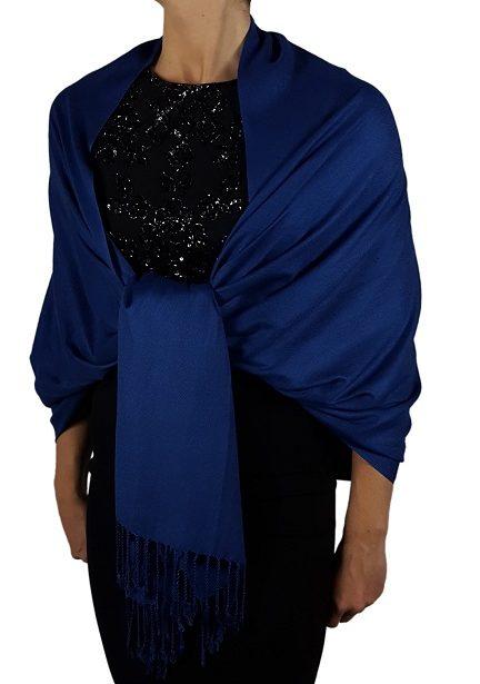 Royal Blue Pashmina Scarfs