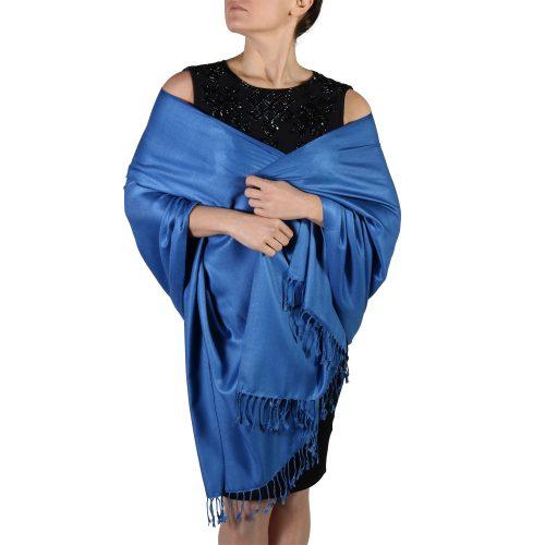 royal blue pashmina wrap scarf (1)