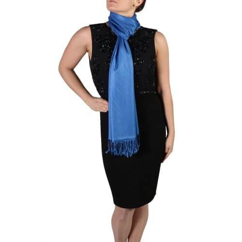 royal blue pashmina wrap scarf (2)