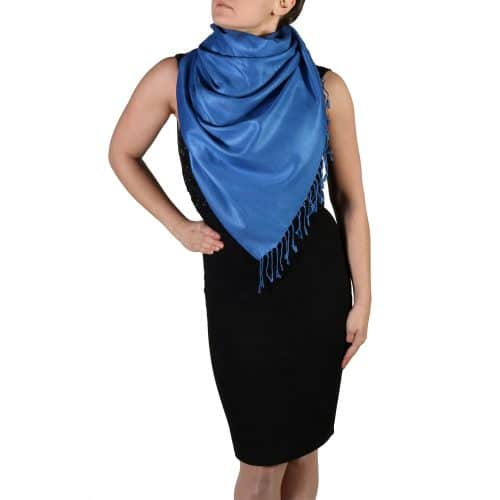 royal blue pashmina wrap scarf (3)