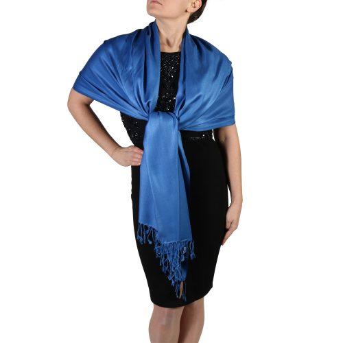royal blue pashmina wrap scarf (4)
