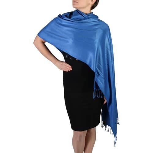 royal blue pashmina wrap scarf (5)
