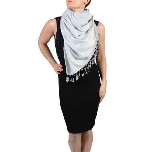 silver pashminas scarves shawls (2)