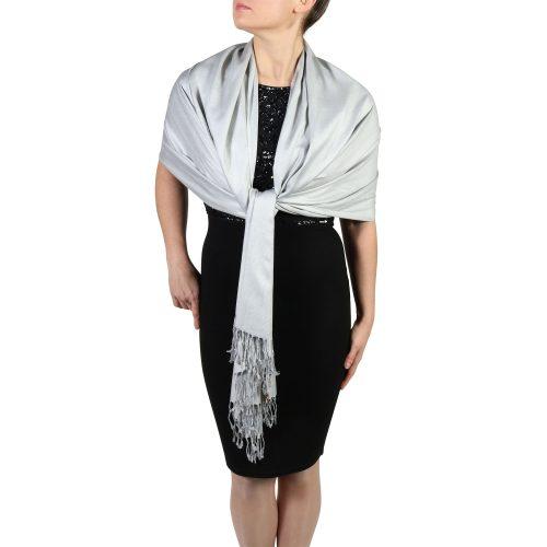 silver pashminas scarves shawls (4)
