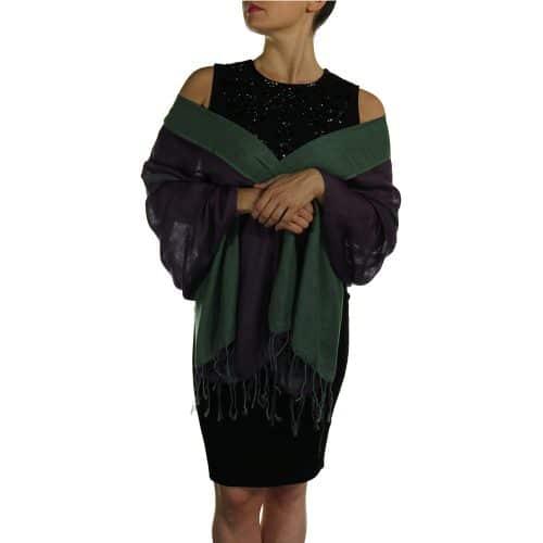 green pashmina wrap shawl stole (1)