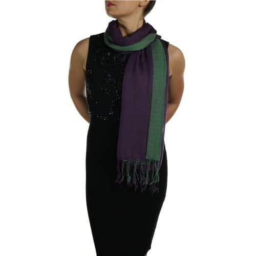 green pashmina wrap shawl stole (3)