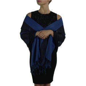 navy black pashmina wrap shawl scarve (5)