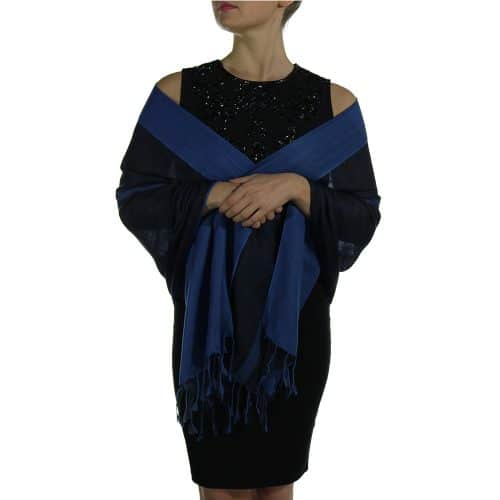 navy black pashmina wrap shawl scarve (5)