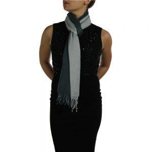 silver gray pashmina wrap shawl stole (1)