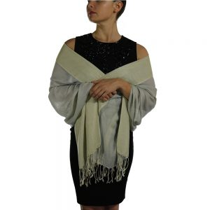 silver yellow pashmina shawl wrap scarve (5)