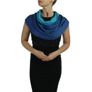 turquoise blue pashmina wrap shawl scarf (3)