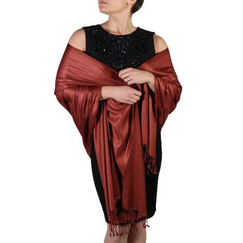 bronze pashmina shawl wrap stole (3)