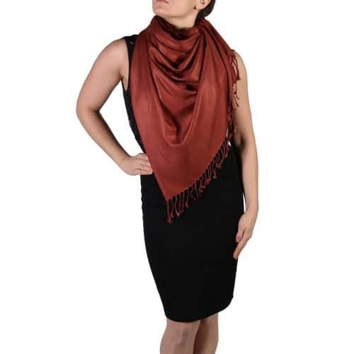 bronze pashmina shawl wrap stole (4)