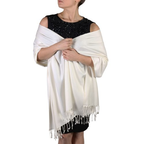 cream pashmina shawl scarf wrap (1)