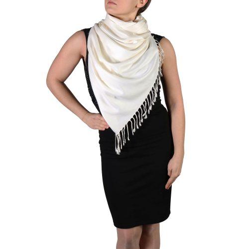 cream pashmina shawl scarf wrap (2)