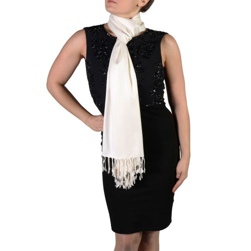 cream pashmina shawl scarf wrap (3)