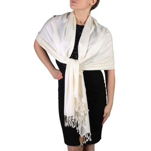 cream pashmina shawl scarf wrap (4)