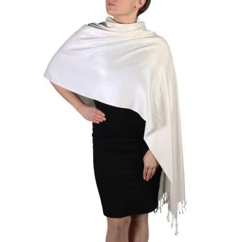 cream pashmina shawl scarf wrap (5)