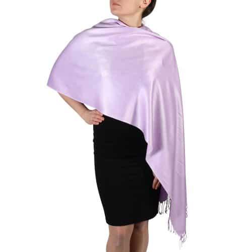 lilac pashmina scarf shawl wrap (1)