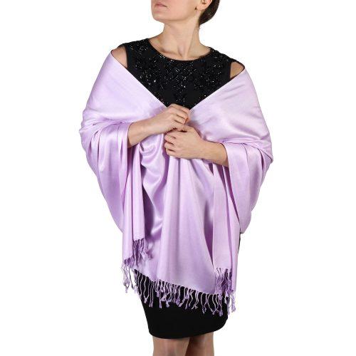 lilac pashmina scarf shawl wrap (2)