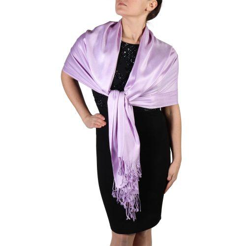 lilac pashmina scarf shawl wrap (5)
