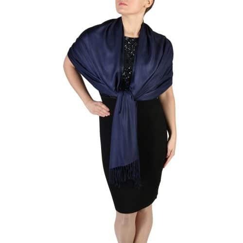 navy pashmina scarf wrap shawl (1)