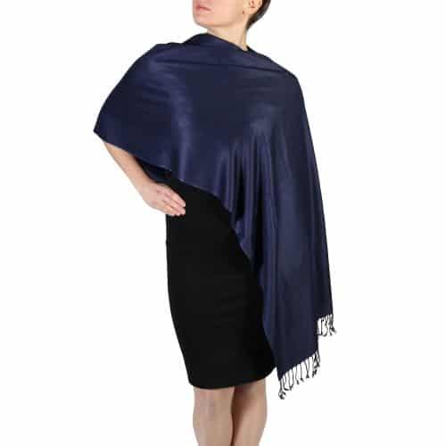 navy pashmina scarf wrap shawl (2)