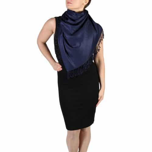 navy pashmina scarf wrap shawl (4)