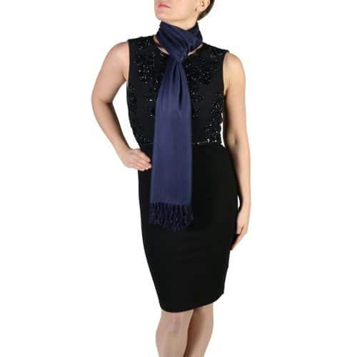 navy pashmina scarf wrap shawl (5)