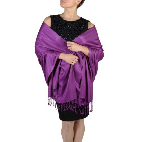 purple pashmina scarf wrap stole (1)