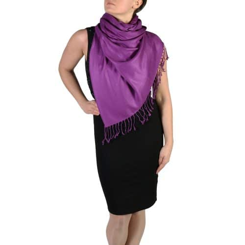 purple pashmina scarf wrap stole (2)