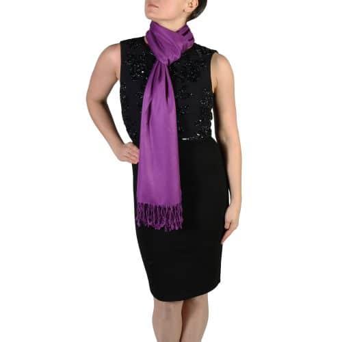 purple pashmina scarf wrap stole (3)
