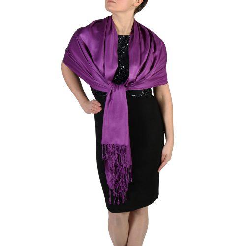 purple pashmina scarf wrap stole (4)