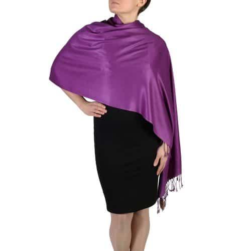 purple pashmina scarf wrap stole (5)