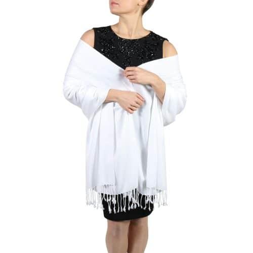 white pashminas wraps stoles (2)