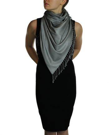 dark silver pashmina 1