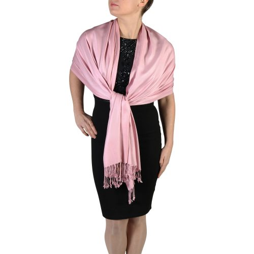 dusty pink pashmina shawl wrap (1)